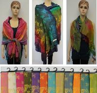 Pashmina with Fringe [Colorful Butterflies]